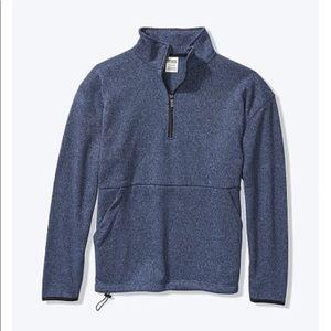 Pink 1/4 zip sweater, S, NWT